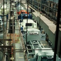 An overhead view of the production line 2005.
